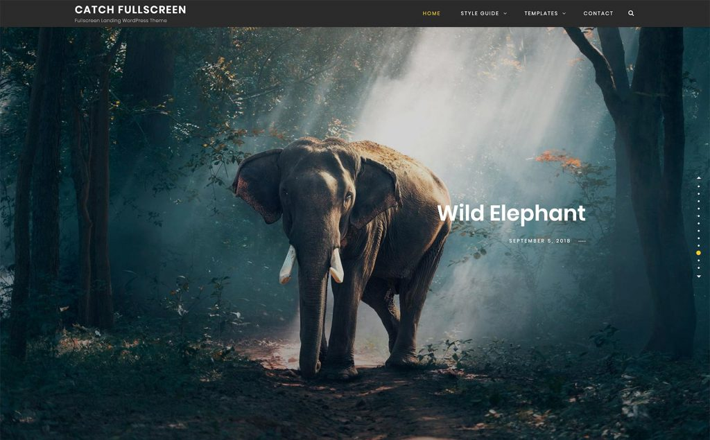 Catch Fullscreen – Free WordPress Theme
